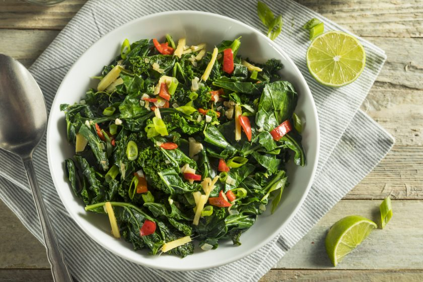 Collards with Dill and Parsley