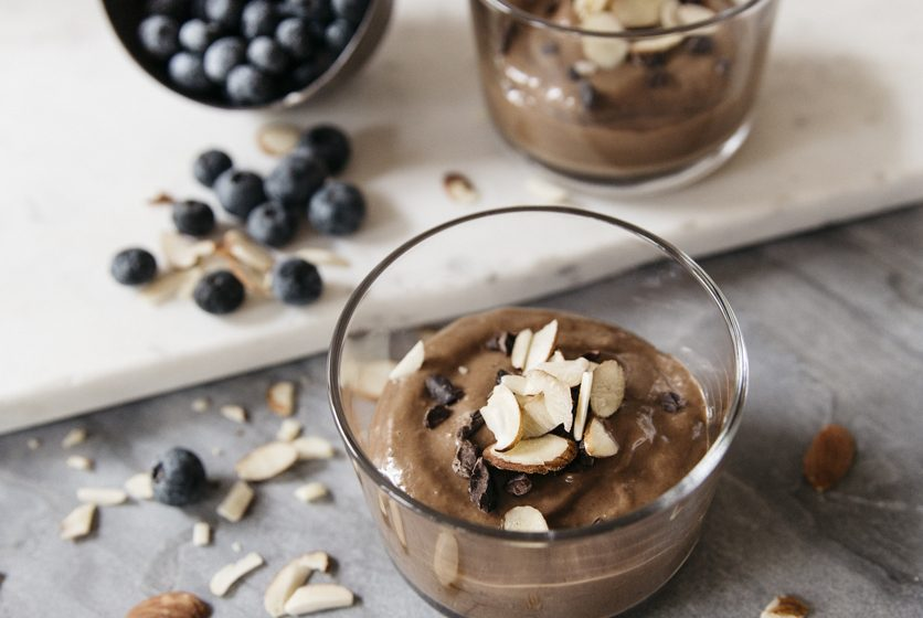 Almond Cherry Chocolate Pudding