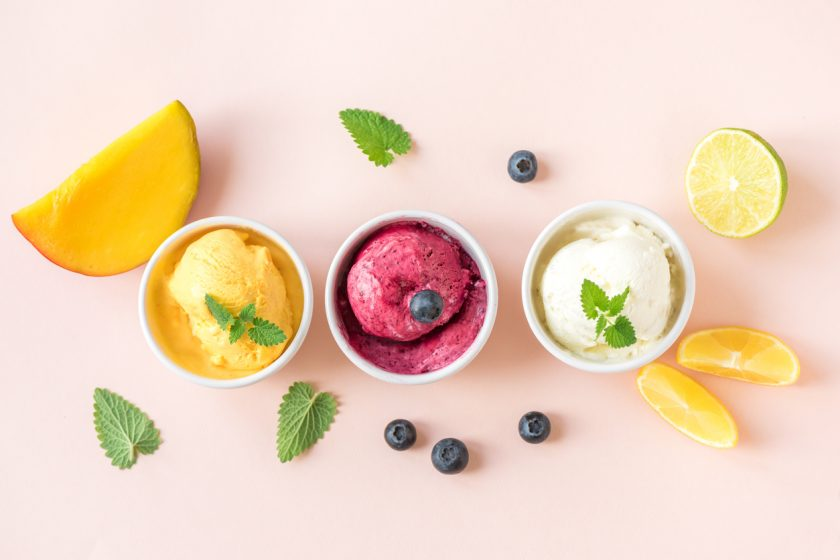 Mango Blueberry Sorbet